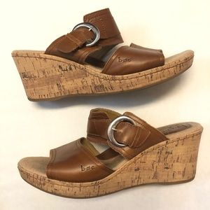Boc born leather wedge shoes size 10